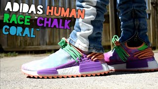 Adidas DYED my sneakers?! || Adidas Human Race Holi NMD Chalk Coral by Pharrell Williams Review