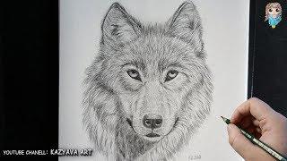Смотреть онлайн Как поэтапно нарисовать волка карандашом