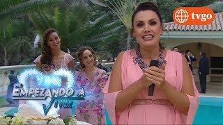 ¡María Elena Se Cae A La Piscina En Plena Presentación!   VBQ Empezando A Vivir 03012018