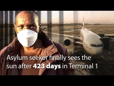 Asylum seeker finally sees the sun after 423 days in Terminal 1