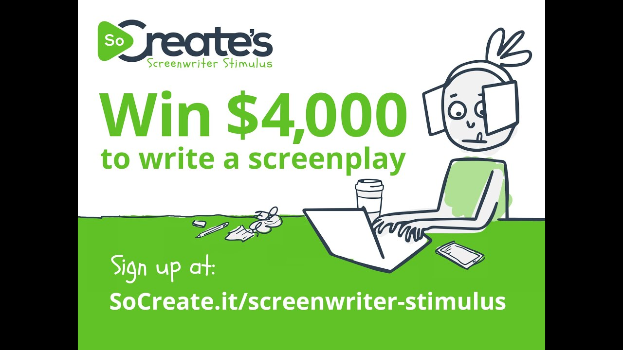 Enter SoCreate's Screenwriter Stimulus for a Chance at $4,000!
