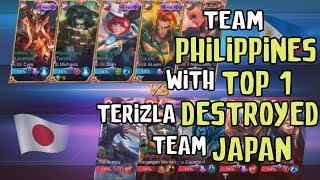 TEAM JAPAN got REKT by PRO TEAM members from Team Philippines in National Arena Contest