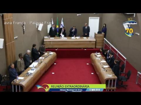 Reunião Ordinária (12/03/2018) - Câmara de Arcos