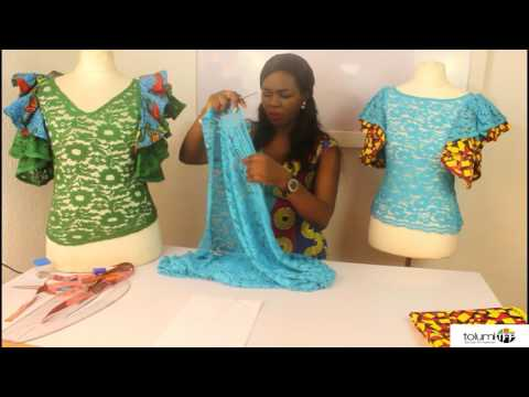 HOW TO CUT A FITTED LACE BLOUSE WITH SLEEVES