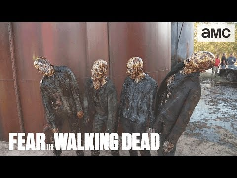 'Oil Tank Full of Water Walkers' Behind the Scenes Ep. 402 | AMC 'Fear the Walking Dead' Thumbnail