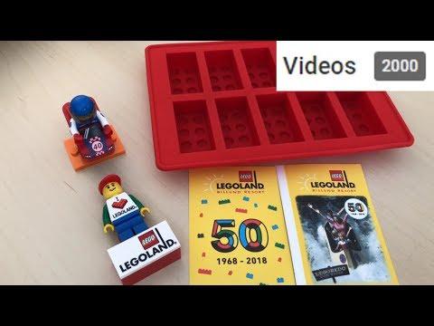 LEGO® Kühlschrankmagnet, Eiswürfelbehälter, Minifig-Serie 18 Review, 2000. Video auf dem Kanal