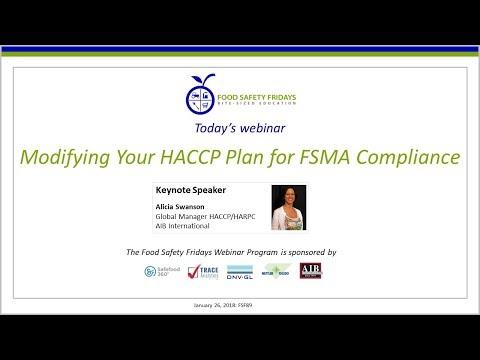 Modifying Your HACCP Plan for FSMA Compliance - YouTube