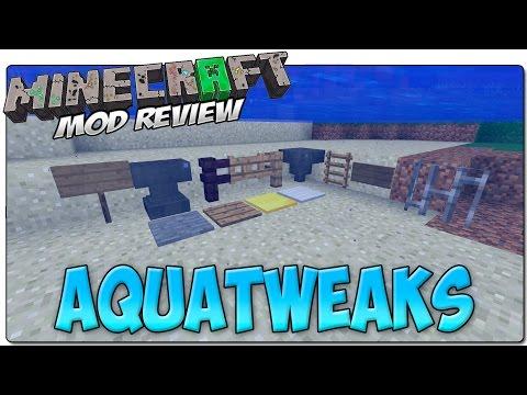 AQUATWEAKS MOD MINECRAFT 1.7.10 | Elimina el aire de los bloques bajo el agua | MINECRAFT MODS