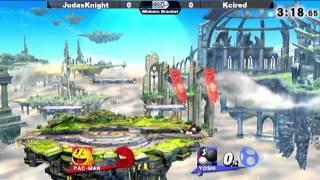 Kcired (Yoshi) vs JudashKnight (Pac Man) - SSB4 Winners Bracket - The SmashLoft