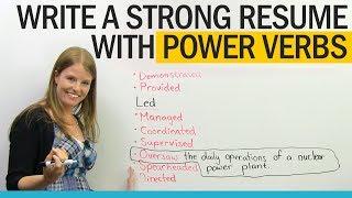 Get a better job: Power Verbs for Resume Writing
