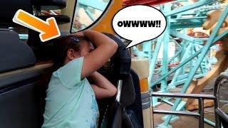 Stuck On A Roller Coaster In Disney! I Hit My Head!