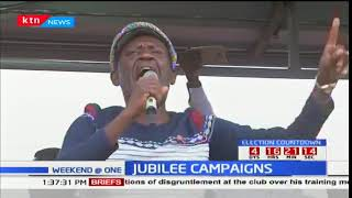 A section of jubilee leaders campaign in Tharaka Nithi ahead of fresh polls