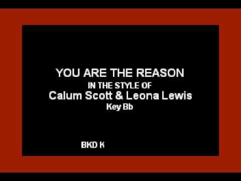 Leona Lewis & Calum Scott - You Are The Reason (Karaoke with Lyrics)