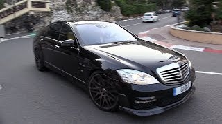 BRABUS B63 S63 AMG V8 BiTurbo - Exhaust SOUNDS in Monaco!