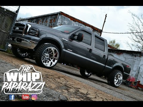 "Ford F-250 on 24"" X 14"" Fuel Forged FF19 Wheels Done by Kc Customs"
