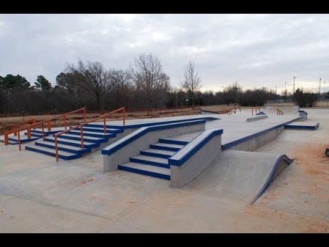"""Stars and Stripes Skatepark Oklahoma City """"sk8parkatlas"""""""