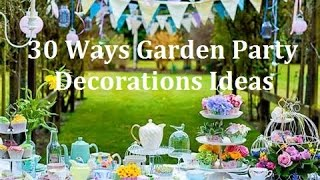 30 Ways Garden Party Design Decorations Ideas