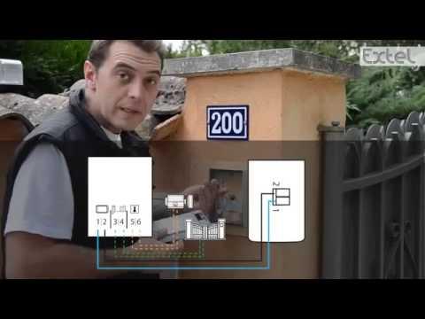 Installation Visiophone EXTEL LENA 11