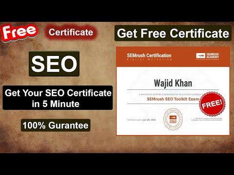 SEO Free Online Courses With Certificates - YouTube
