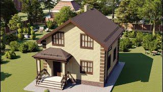 Проект дома 097-Е, Площадь дома: 97 м2, Размер дома:  7,8x8,7 м