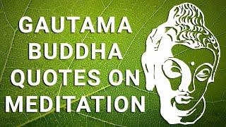 Gautam Buddha Quotes On Meditation - Buddha Quotes - Buddha - Buddhist Meditation - Buddhism