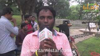Sakthi Raju at Madurai Mavendhargal Movie On Location