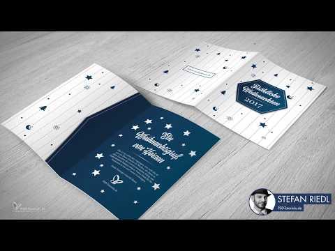 Tutorial: DIY Weihnachtskarte in InDesign gestalten