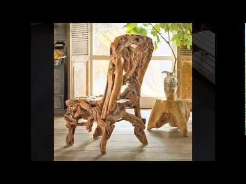 Оригинальные стулья из дерева своими руками