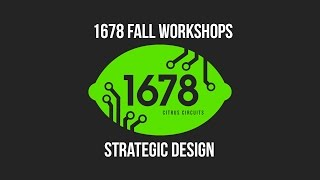 2016 Fall Workshops - Strategic Design