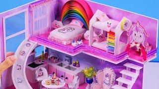 How To Make A Pink Unicorn Room ~ DIY Miniature Dollhouse