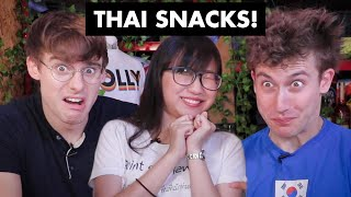 Trying Thailand's quirkiest snacks! (feat. Silkworms and ACID?!)