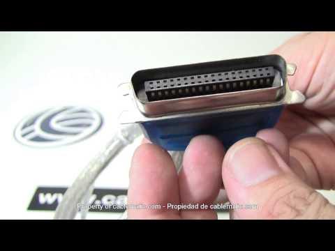 Cable USB a puerto paralelo (A macho a centronics 36 macho) distribuido por CABLEMATIC ®
