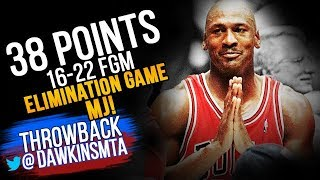 Michael Jordan Full Highlights 1998 ECR1 Game 3 Bulls vs Nets – 38 Pts, 16-22 FGM, CRAZY Shots!