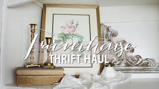 THRIFT HAUL 🌿 | VINTAGE FARMHOUSE COTTAGE DECOR | 2020