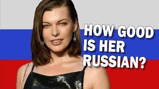 How Good Is Milla Jovovichs Russian?
