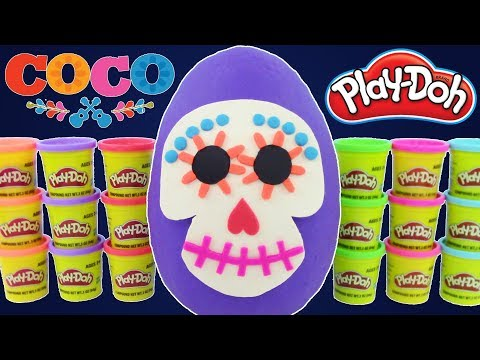 GIANT COCO MOVIE PLAY-DOH SURPRISE EGG! Disney Pixar's Cars, Toy Story, Super Mario, Squishy Toys