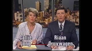 Afrikaans TV1 News - White Referendum Towards Ending Apartheid (1992)