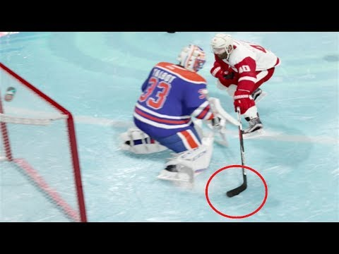 TRICK SHOTS - NHL 18 - Datsyuk Goal, Through the Legs Goal  (NHL 18 Beta Gameplay)
