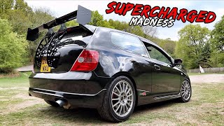 THIS *SUPERCHARGED EP3 CIVIC TYPE R* SCREAMS!!