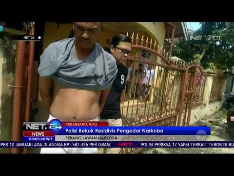 Polisi Bekuk Residivis Pengedar Narkoba di Riau NET24