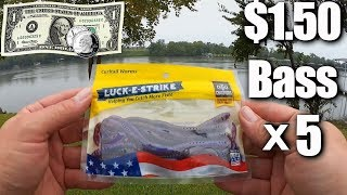 Fishing with $1.50 Worms from Walmart - Beginner Bass Fishing Tips