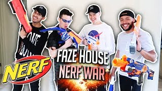 FAZE HOUSE NERF WAR!! *INSANE*