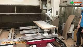 MÁY CNC 3D 5 Trục Promaster T3AP Woodmaster gia công cắt vát 45 độ tại Cty BUI Furniture