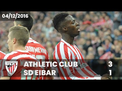 ⚽ FULL MATCH I LaLiga 16/17 I J14. Athletic Club 3 – SD Eibar 1
