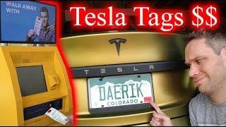 $1,700 for a Sticker.... Tesla License Plate Renewal Through a Kiosk.
