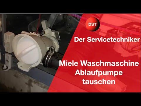Miele Waschmaschine Ablaufsystem reinigen Laugenpumpe wechseln