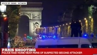 French News Coverage Of Shooting On Champs-Elysees In Paris