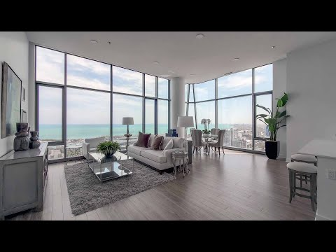 A 3-bedroom, 3-bath South Loop penthouse Plan 3B-1 at The Paragon