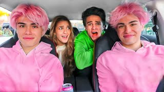 PRANKING MY FRIENDS WITH MY NEW HAIR!!