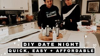 Quick, Easy + Affordable DIY Date Night In Ideas!